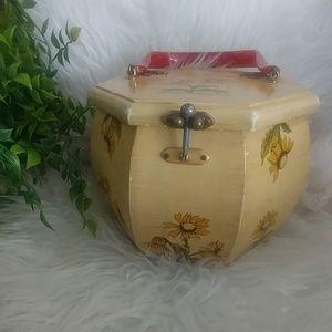 🌻vintage🌻 Sunflower Box Purse